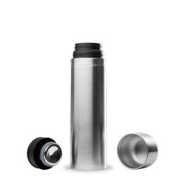 Bouteille isotherme avec gobelet inox 500ml Inox Qwetch