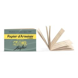Papier d'Arménie triple - carnet traditionnel 12 feuilles