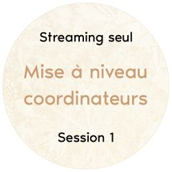 "Streaming seul ""Mise à niveau coordinateurs"", 2018 Session 1"