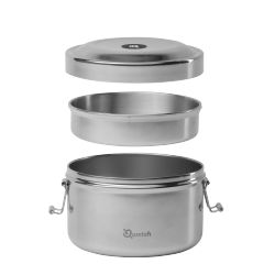 Boite Bento isotherme 850ml Inox Qwetch