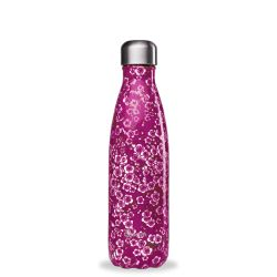 Bouteille isotherme inox 500m Flowers rouge Qwetch