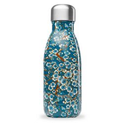 Bouteille isotherme inox 260ml Flowers Bleu Qwetch