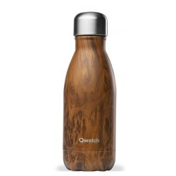 Bouteille isotherme inox 260ml Wood brun Qwetch