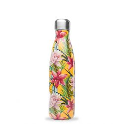 Bouteille isotherme inox 500ml Tropical Fleur Jaune Qwetch