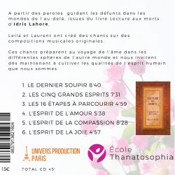 "CD ""Chants de l'au-delà"", Leila Aimée, Laurent Gros"