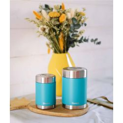 Boite repas isotherme Inox 650ml Turquoise Qwetch